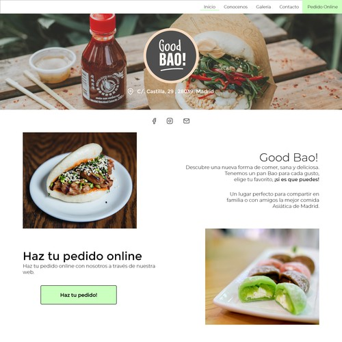 Ultra White and Clean Design for a Bao Restaurant