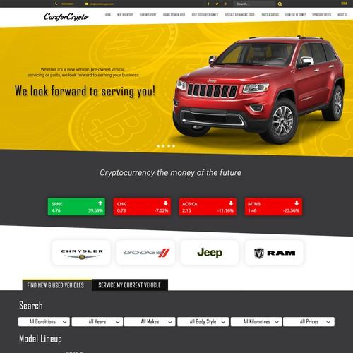 CarsforCrypto website and app design