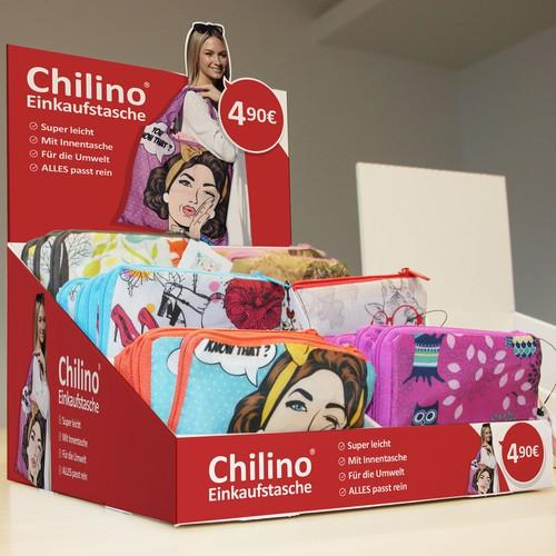 Chilino counter POP display box