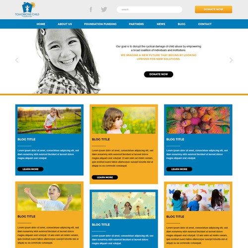 Create the web design for Tomorrow's Child Foundation