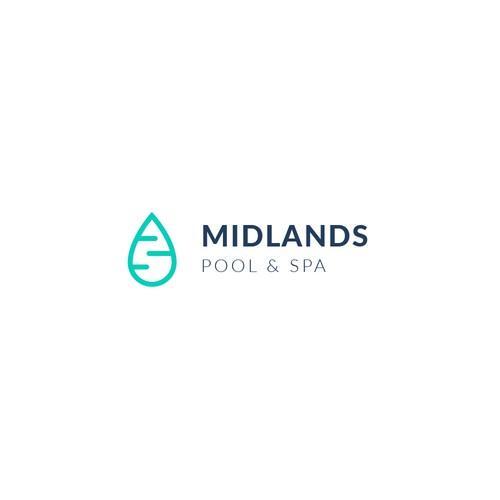 Logo Concept   Midlands Pool & Spa