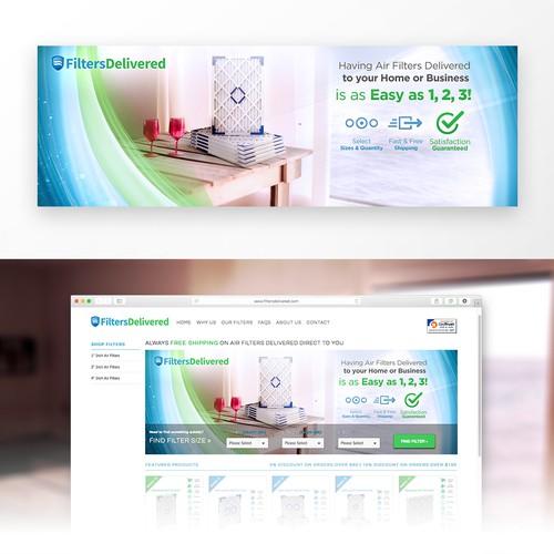 Webpage Banner for Filters Delivered