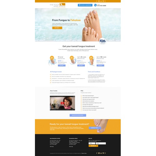 New landing page wanted for The Foot and Ankle Institute of San Francisco