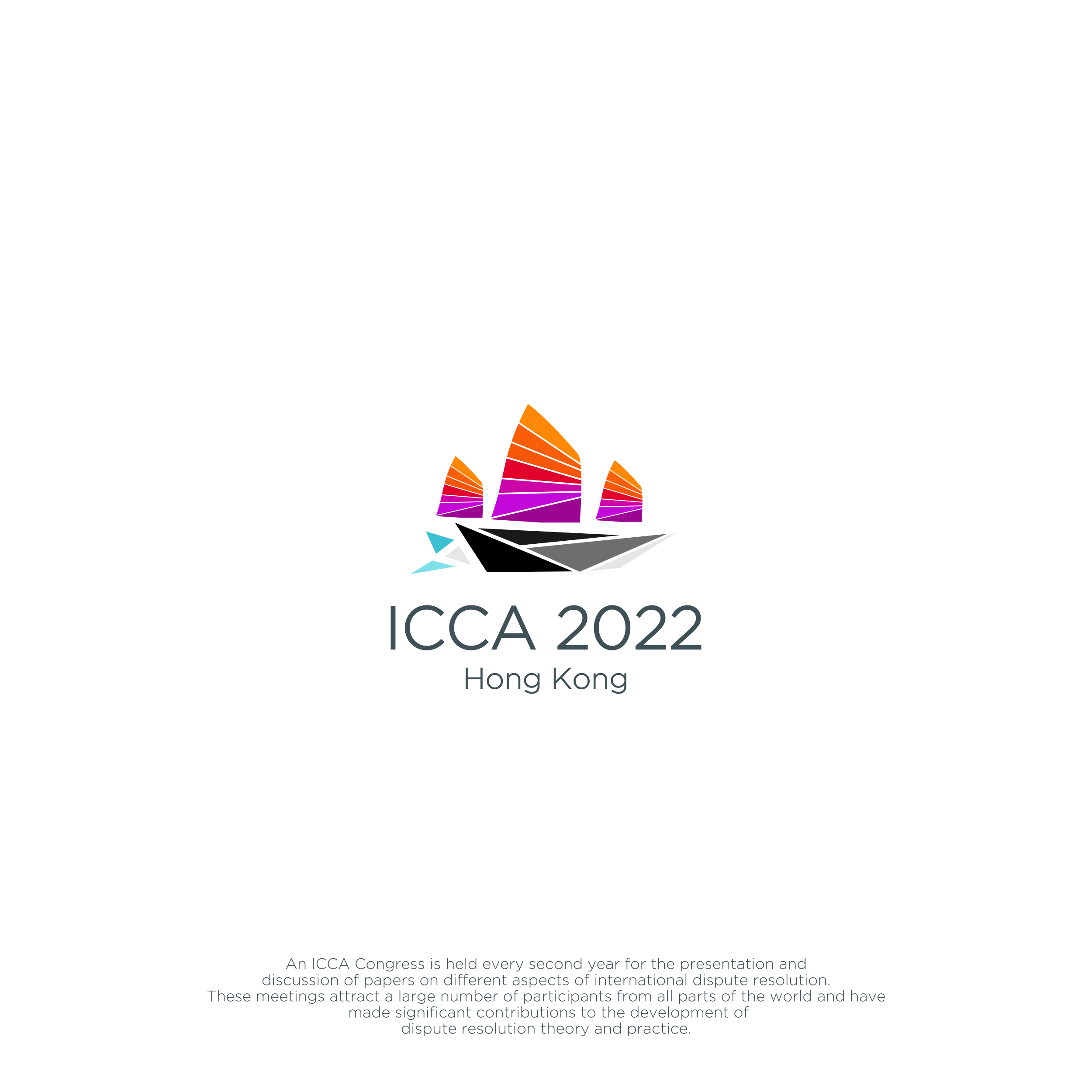 Create a vibrant logo to showcase Hong Kong (ICCA Congress Hong Kong 2022)