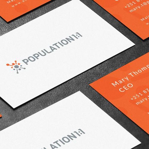 Logo Design for Population 1:1