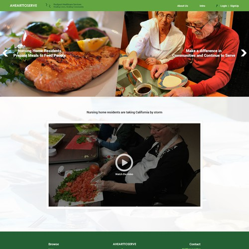 "Website design for ""a heart to serve """