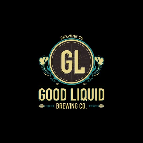 """Logo concept for """"The Good Liquid Brewery""""."""