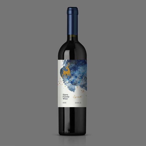 Sipes Family - Syrah - Wine Label Design