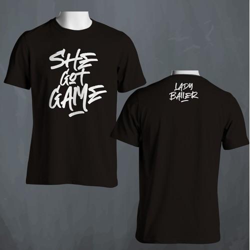 She Got Game T-Shirt Design