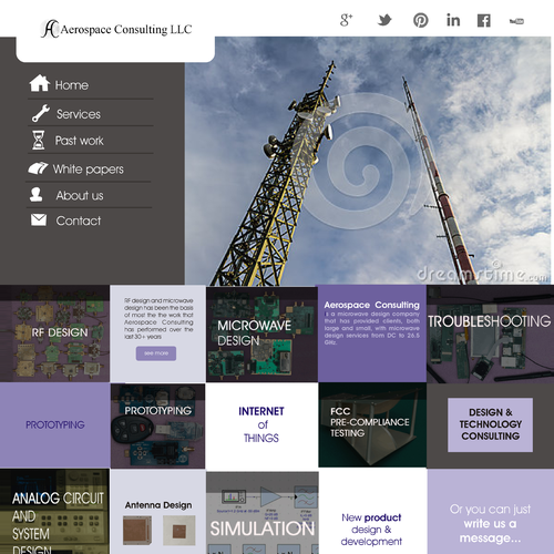Automation company web page design