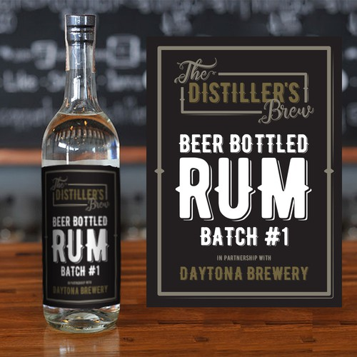 Concept for Rum label
