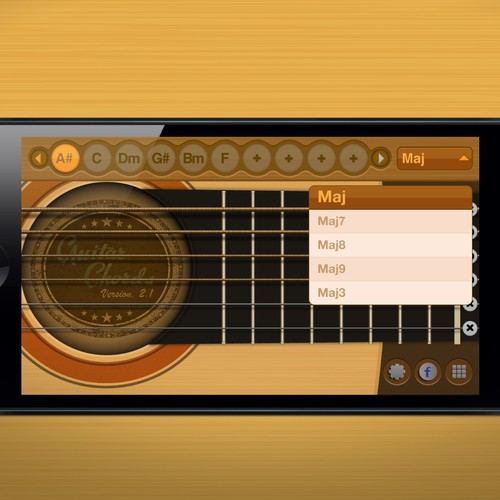 Guitar Chords Mobile App Redesign (2 Screens)