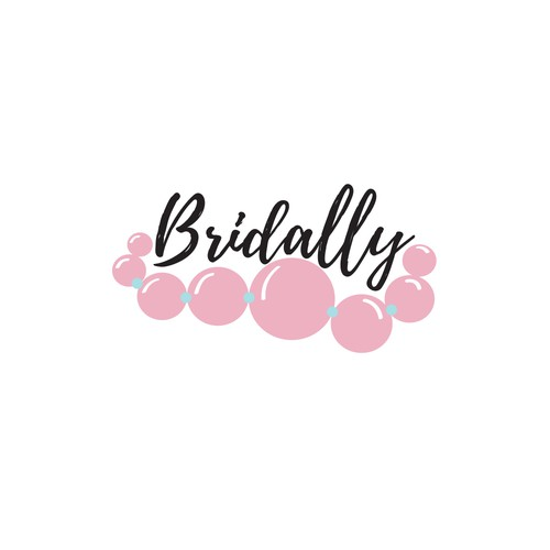Feminine logo design for Bridally wedding accessories.