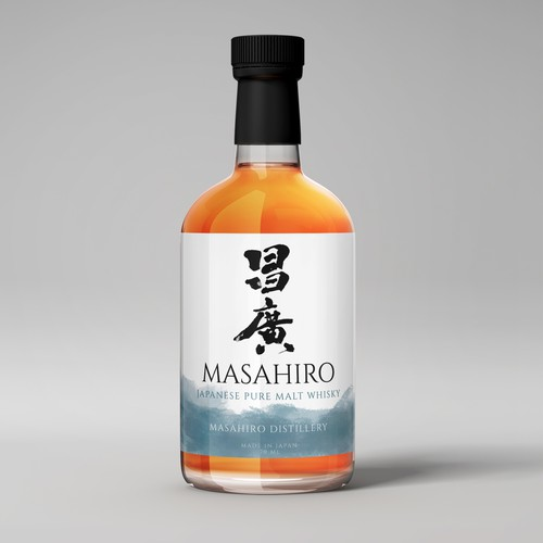 Product label design of Japan Whiskey