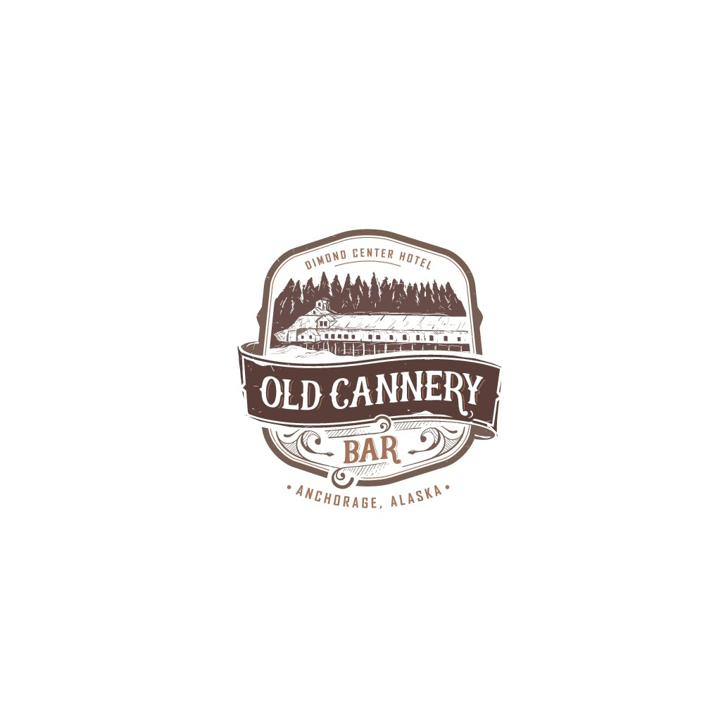 Create a Logo for Alaskan Bar & Restaurant called Old Cannery Bar