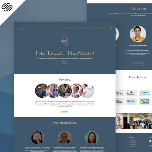 The Talent Network - Squarespace Web Design