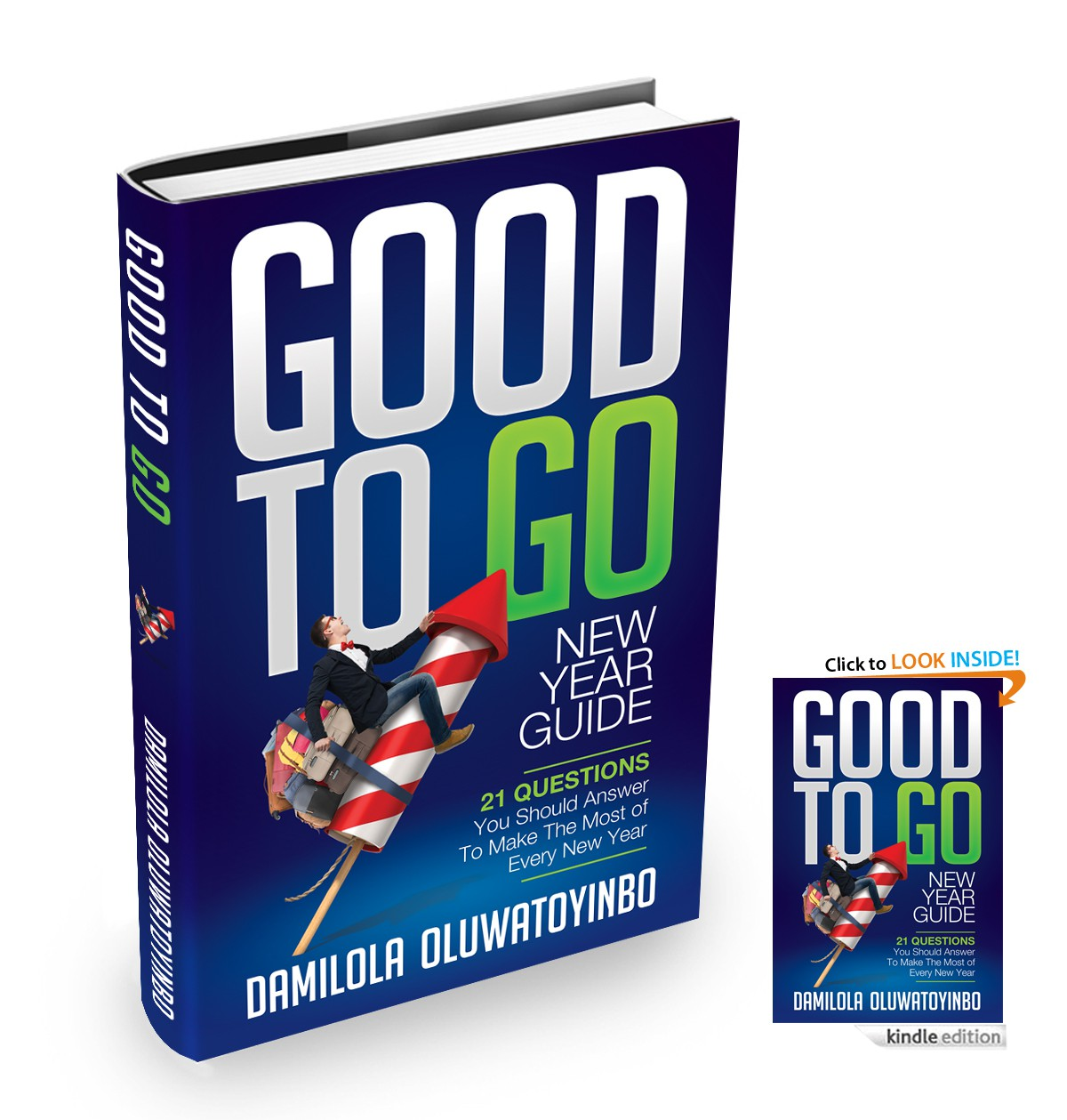Create a fresh, bold, creative and captivating cover for my book, GOOD TO GO New Year Guide
