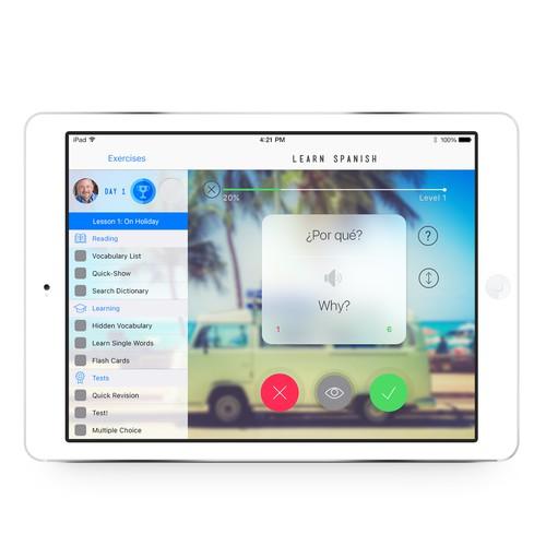 Learn Spanish! on the iPad