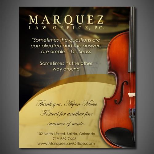 Back Cover for Salida-Aspen Concerts program book