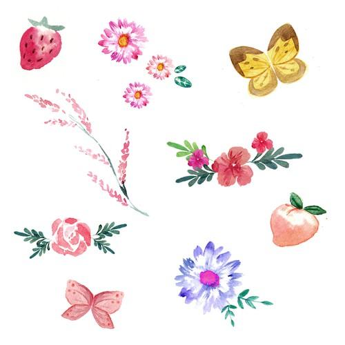 decorative sticker design