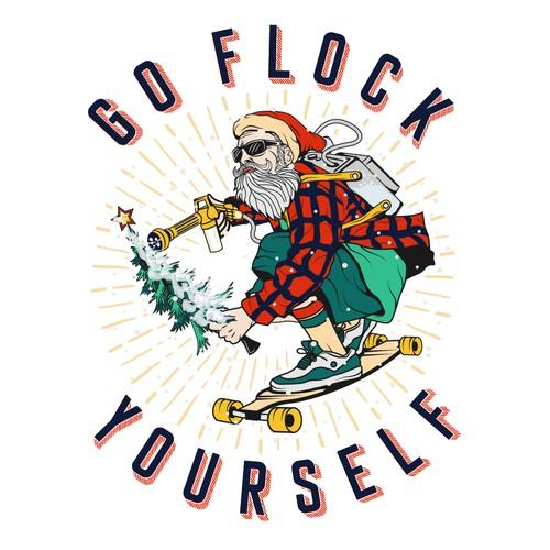 santa claus go flock