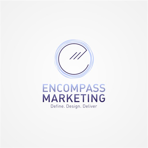 modern and simple logo for Encompass Marketing
