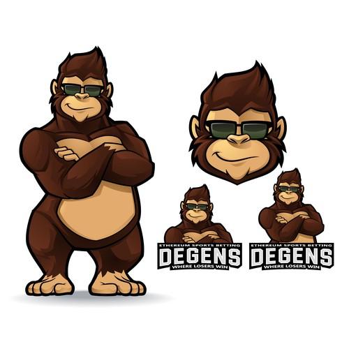 Gorilla Mascot Logo for Degens