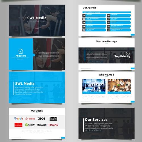 Design a 10-15 Slide Pitch Deck To Raise Capital for a Political News Portal