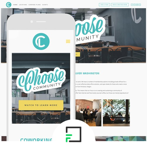 Squarespace Website Design for Large Coworking Company