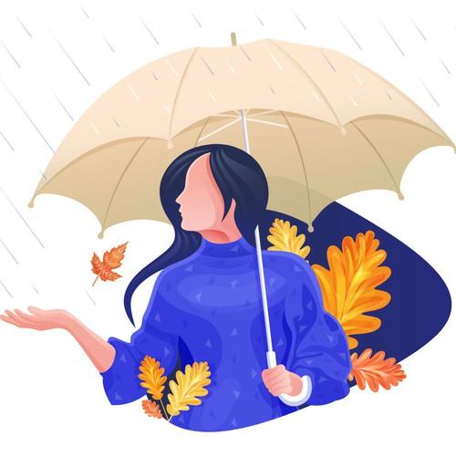 play with rain illustration