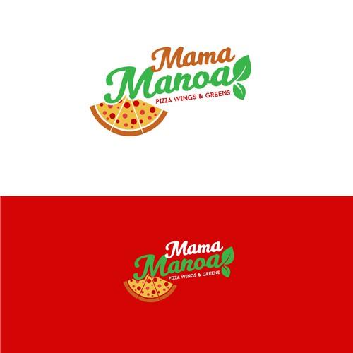 Logotipo para pizzeria restaurant
