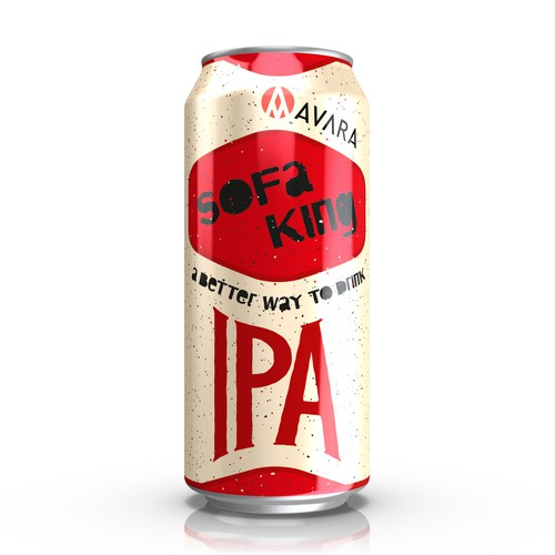Create a Tall Boy Label for a new IPA