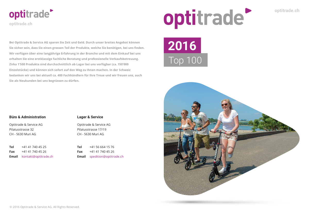 Optitrade 2016 Top 100 Catalog