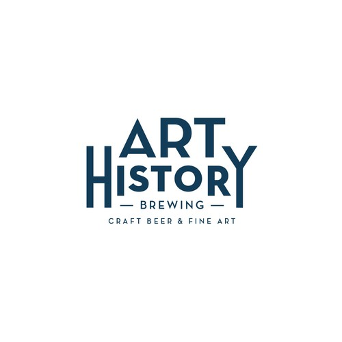 Art History Brewing Logo Design