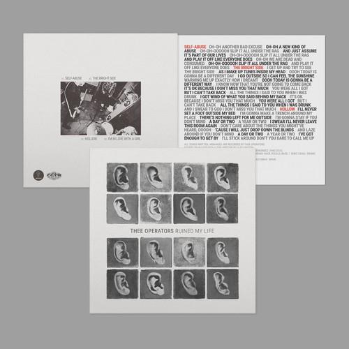 "Thee Operators ""ruined my life"" 7"" vinyl EP artwork"