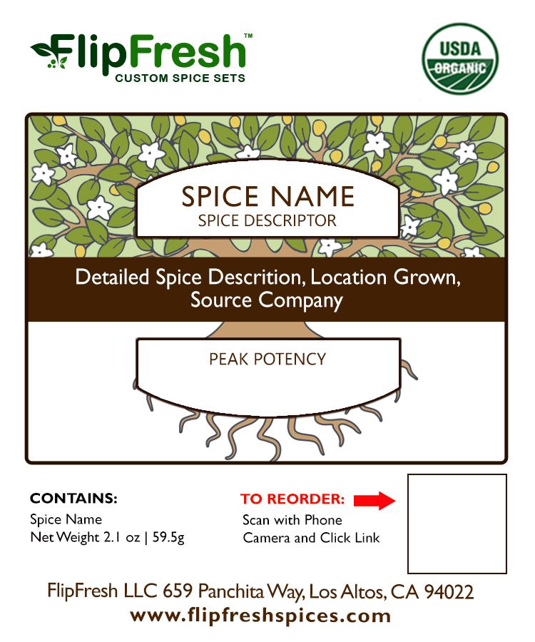 Label for spice jars