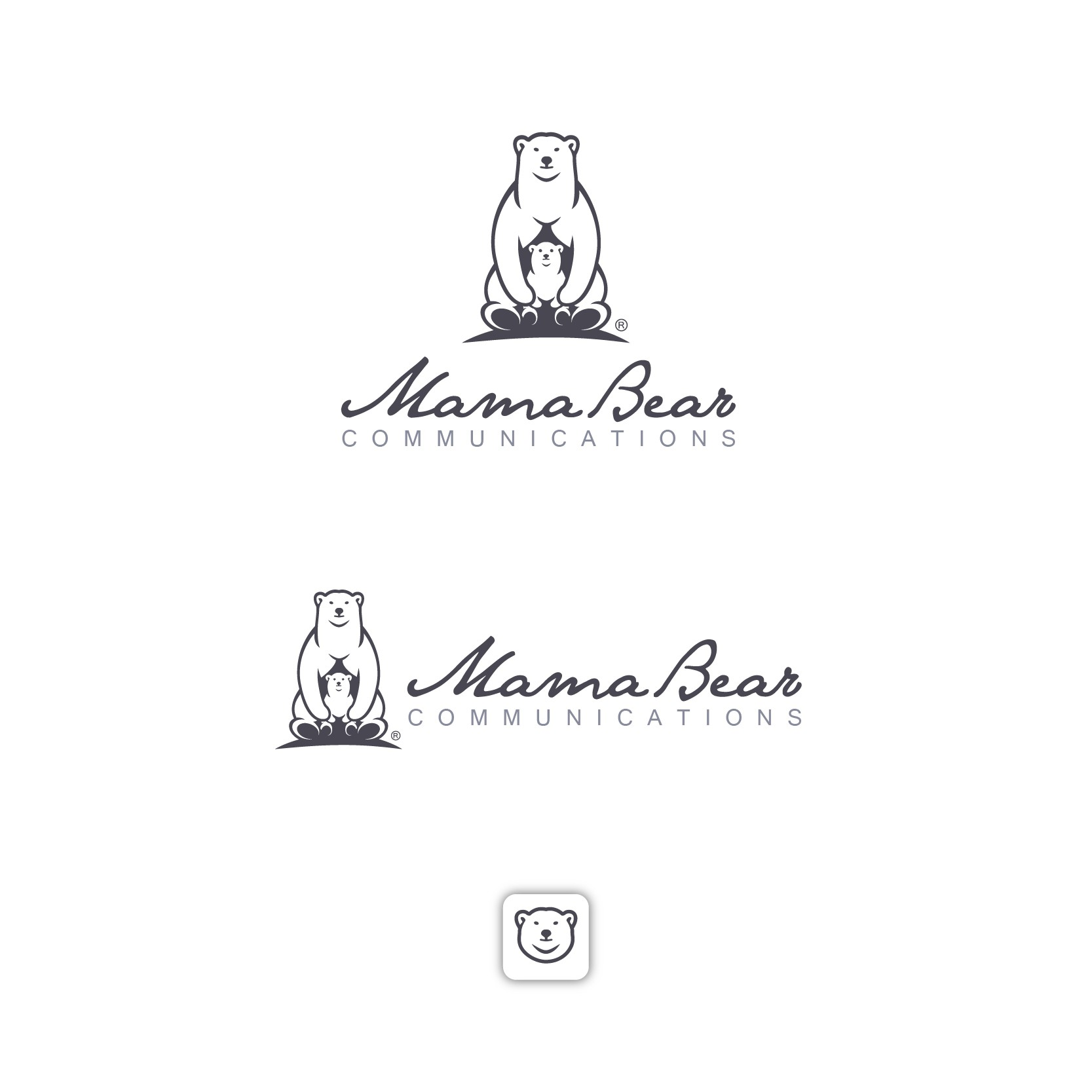 Create a logo and illustration for Mama Bear Communications