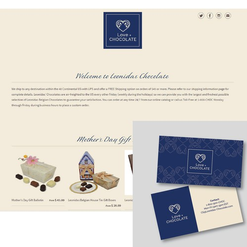 Design a logo for Love + Chocolate