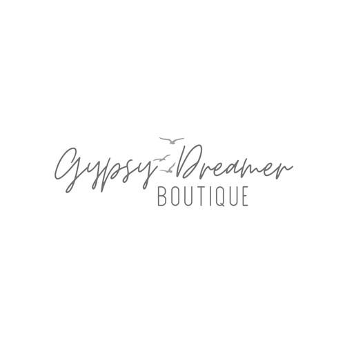 Feminine, boho logo with neutral colors  for a boutique