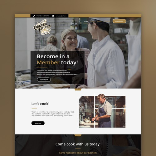 Responsive website design for Kitchen Company