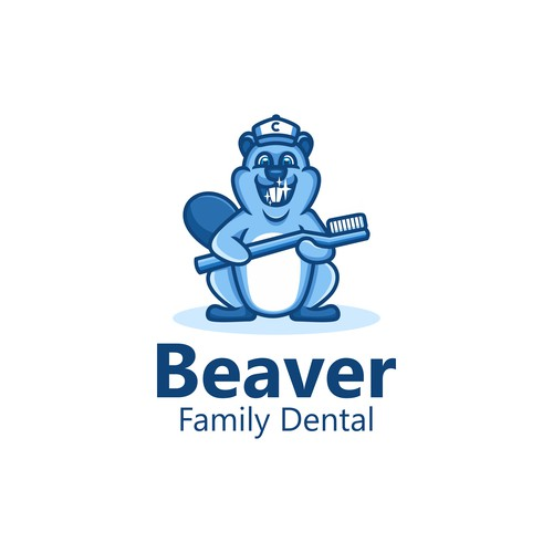 Beaver Mascot for Family Dental