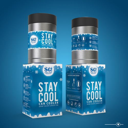 Stay Cool Can Cooler Packaging Design