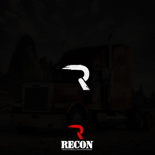 Bold, masculine logo for a trucking company.