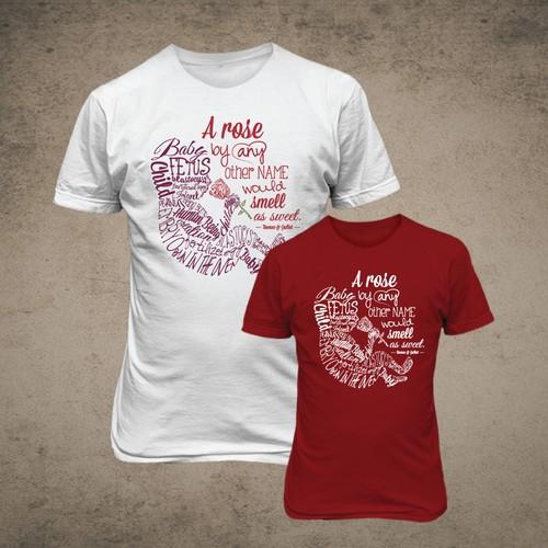 Pro-life T-shirt design