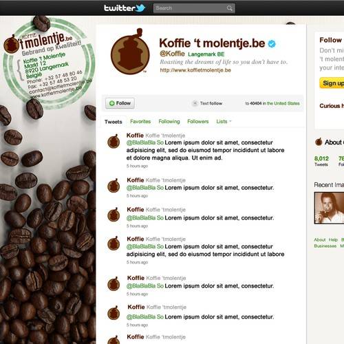 Create an amazing Coffee Background for Twitter!