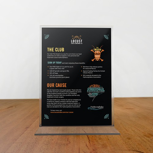Taproom Table Tent Redesign