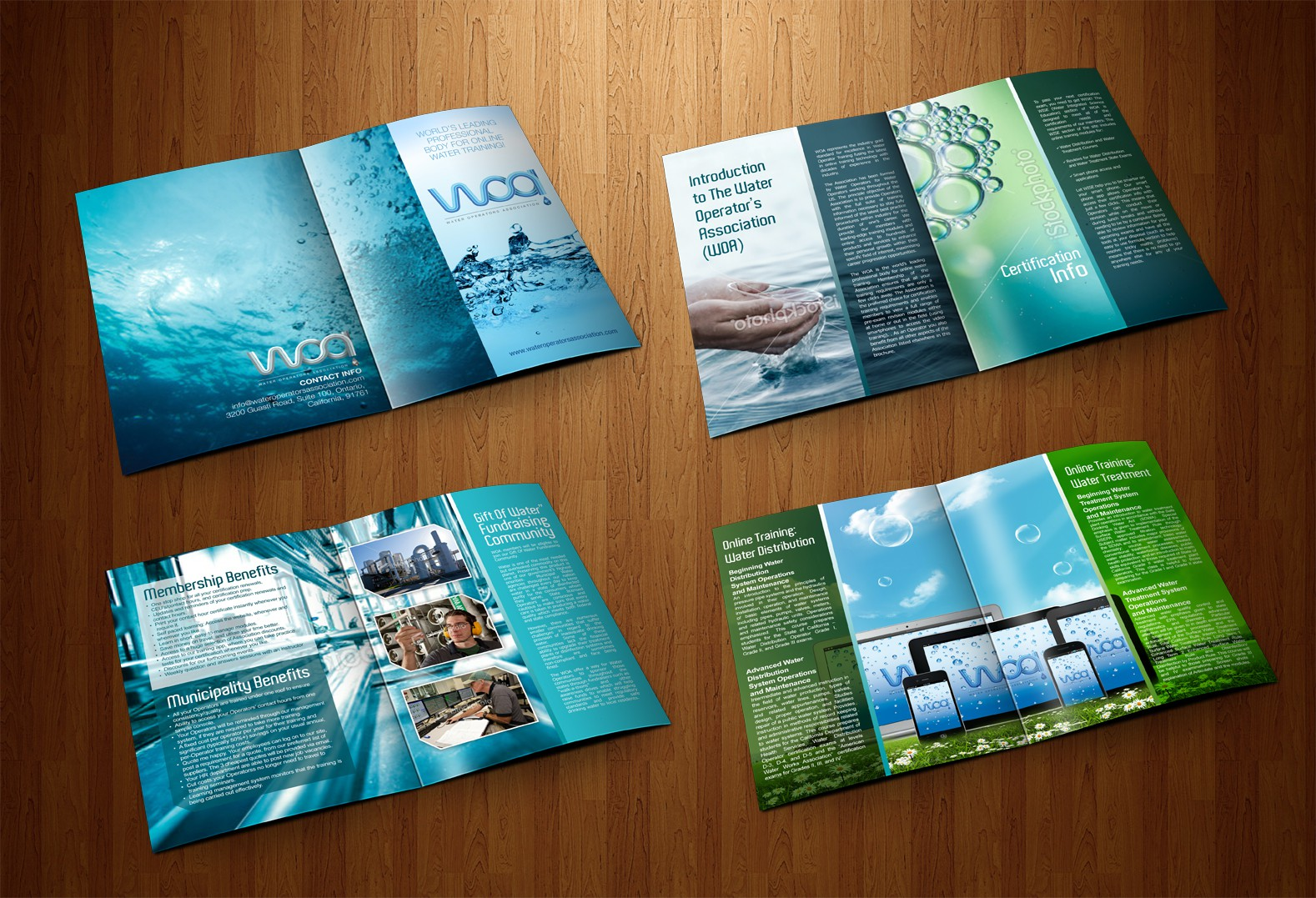 Create the next brochure design for Water Operators Association