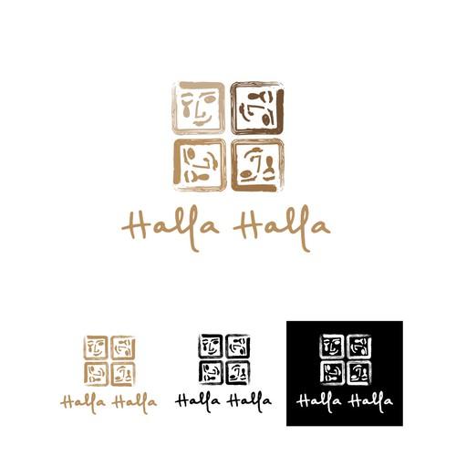 Artistic logo for Halla Hlla Eatery