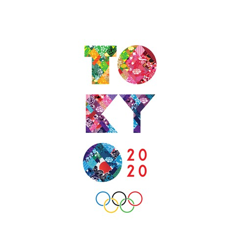 Modern logo for the 2020 Tokyo Olympic Games