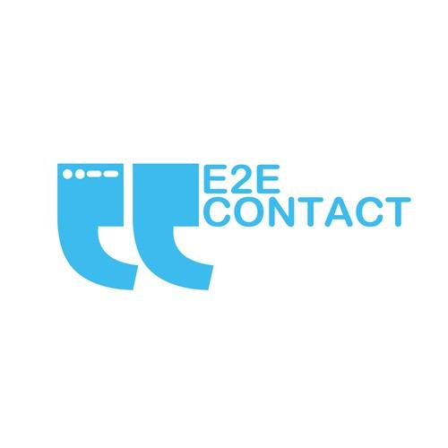 Expressive logo concept (E2E Contact Solutions)